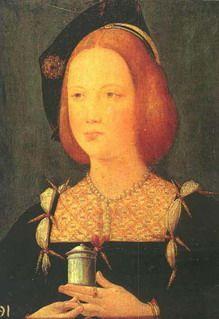 Мария Английская (1496-1533),третья жена Людовика XII,худ.Ганс Гольбейн-младший:(Мария Тюдор).Отец:король Англии Генрих VII(1457-1509),мать: Елизавета Йорк(1466-1503) (племянница Ричарда III).Мария с детск.возраста была предоставлена сама себе.Мать умерла,когда ей было 7 лет,отец,когда 13.Королем стал ее брат,Генрих VIII,кот.в то время едва исполнилось 18 и к-рый занимался прежде всего собой.