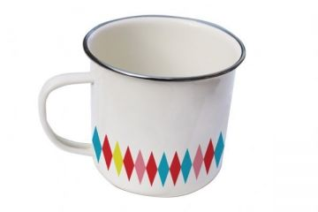 Camp Mug in Diamond http://www.recline.co.nz/store/picnic-essentials/general-eclectic-camp-mug.html
