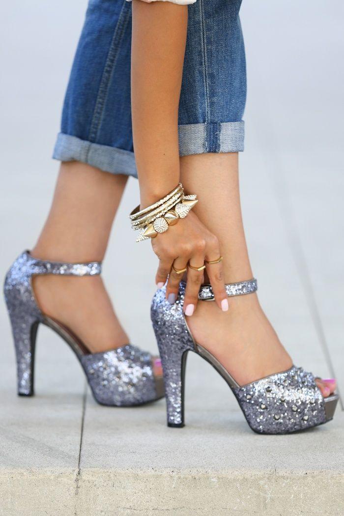 Dreamy Sparkling Silver High Heels <3 http://www.solesociety.com/?medium=HardPin=Pinterest=type294=0