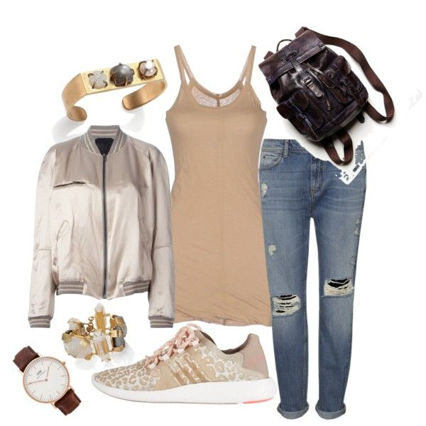 Untitled #1622 by linneabryngnas on Polyvore featuring Haider Ackermann, Rick Owens Lilies, Whistles, adidas, Free People, Kelly Wearstler and Daniel Wellington