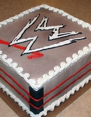 WWE Birthday for one of the twins birthday cake!