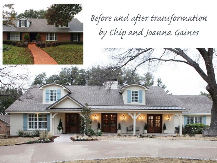 Exterior transformation by chip and joanna gaines of magnolia home for tv show fixer upper House transformations exterior