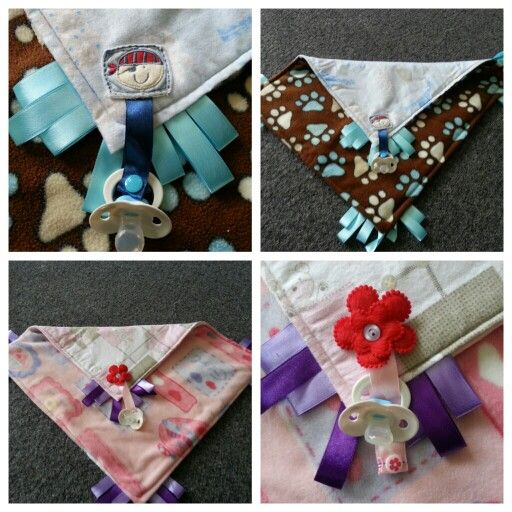 Baby Taggy Snugglie with Dummy Clip...check them out at www.facebook.com/bdmadebyme :)