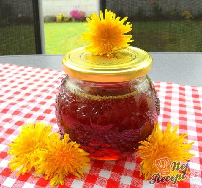 Pampeliškový med s přídavkem třtinového cukru