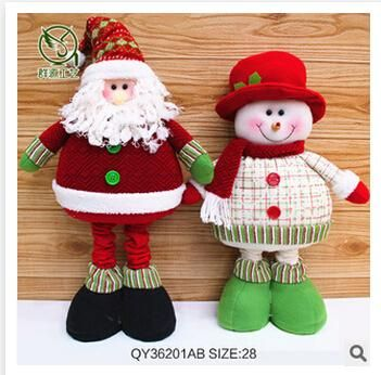 Online Cheap Christmas Crafts Gift Santa Snowman Scalable Toys Creative Gift Ornaments Dolls Xmas Indoor Outdoor Decoration Christmas Decorations M745 By Dhgate_socks   Dhgate.Com