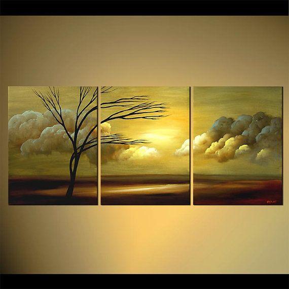 PINTURA a medida - pintura de paisaje contemporáneo moderno Original por Osnat.  Como se trata de una pintura hecho por encargo, será similar al que