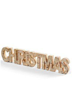 "Scritta ""Christmas"", bpc living, Marrone chiaro"