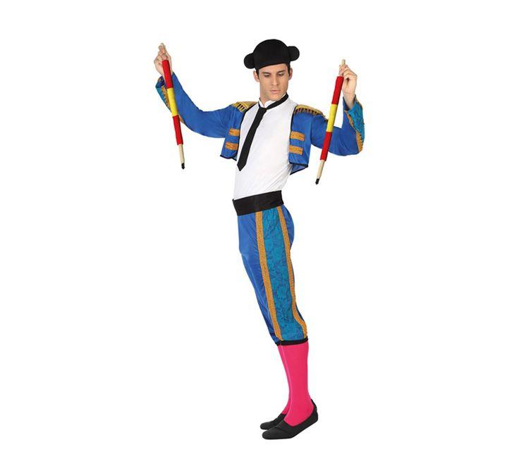#Disfraz de #Torero Azul para Hombre. #DespedidadeSoltero #DespedidadeSoltera #Despedida #Despedidas #Fiesta #Boda