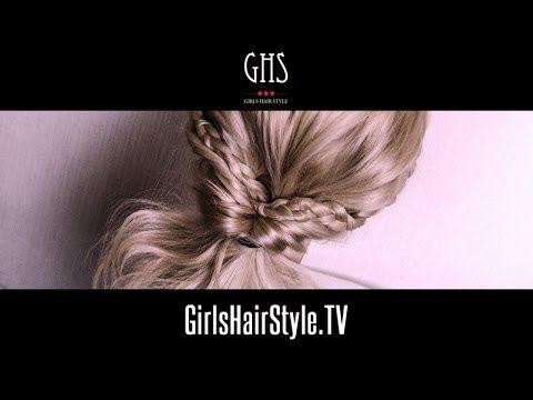▶ 簡単ゆるふわくるりんぱヘアアレンジ 三つ編みハーフアップ - YouTube