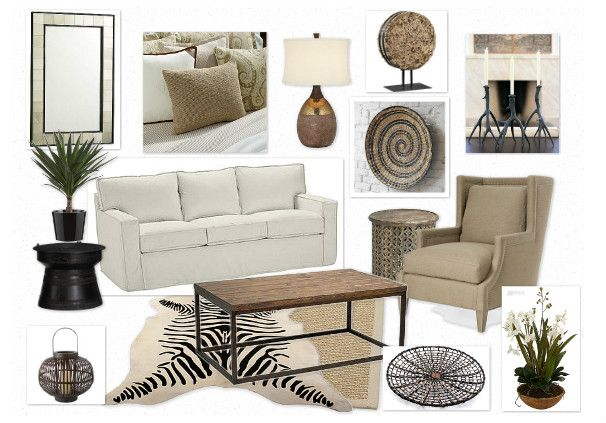Neutral living room decor safari african chic my for Bathroom designs egypt