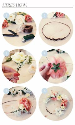 Como hacer un cintillo de flores