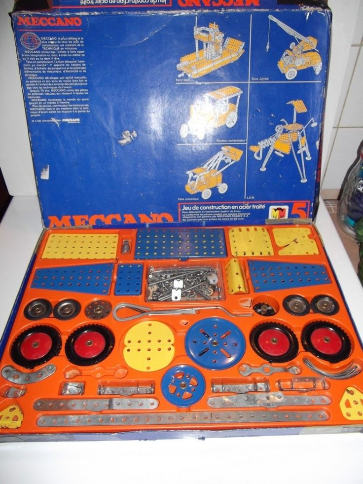 Meccano - my brother not me. Girls did not have construction toys in the 70s