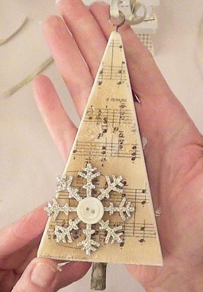 Catherine Scanlon Design | Oh Christmas Tree #decoartprojects #decoartmedia #mixedmedia: