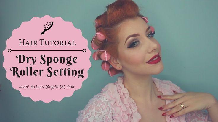 Dry Overnight Sponge Roller Setting Tutorial - YouTube