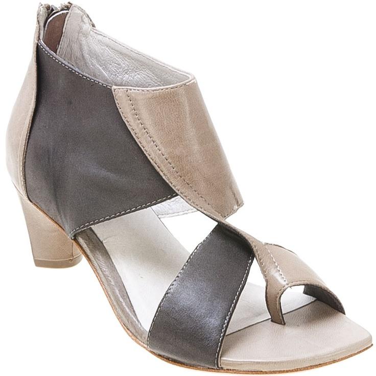 Buy Taupe Black CoupleOf Women's Shield Open-Toe Pump Shoe shoes