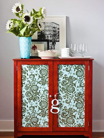 278 best boutique images on pinterest home ideas furniture fabric redo too much clutter for glass cabinet doors hide the cabinets contents by lining planetlyrics Images