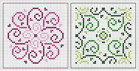 dual design - repeating these in matching colors = great border.