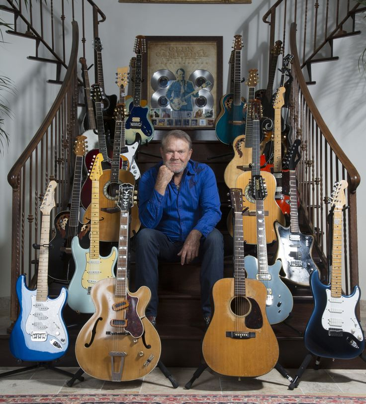 Glen Campbell's guitar collection.....