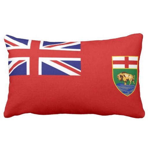 Provincial Flag Of #Manitoba Throw Pillows