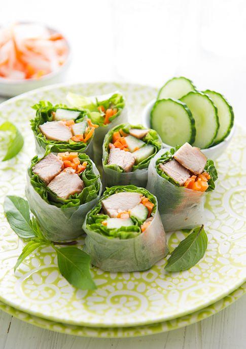 garlic chicken spring rolls w garlic soy dipping sauce: a delicious, light appetizer