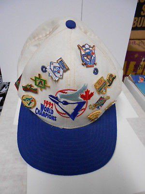 Toronto Blue Jays World Series baseball hat with pins 1992