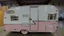 Pink 1961 Shasta Airflyte vintage Rv reissue retro travel trailer canned ham