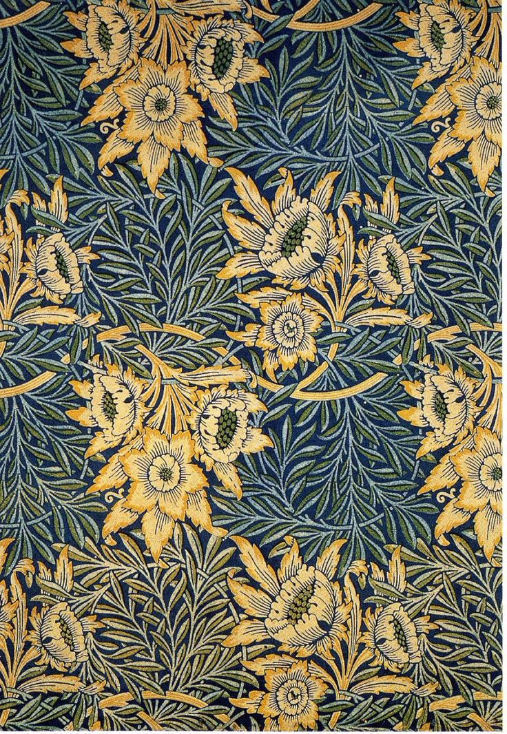 Tulip and Willow textile design by William Morris, produced by Morris, Marshall, Faulkner & Co, 1873