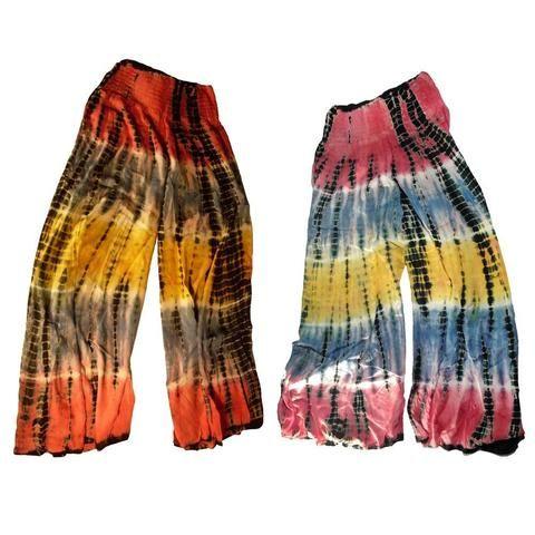 Tie Dye Rainbow Coloured Flow Pants