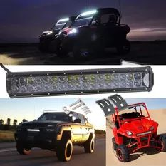1x 180W LED White Spot Bem Driving Work Light Br Lmp 4WD Offrod SUV TV Bot