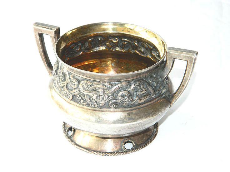 Silver Soup BOWL w/ Handles by Norwegian Artist HENRIK MOLLER, ca.1900