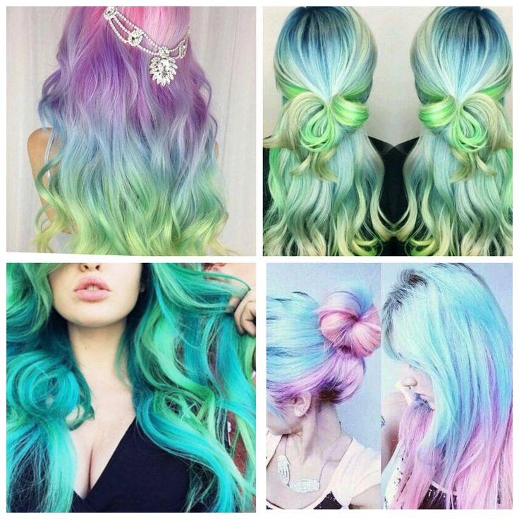 Ombré Rainbow Hair