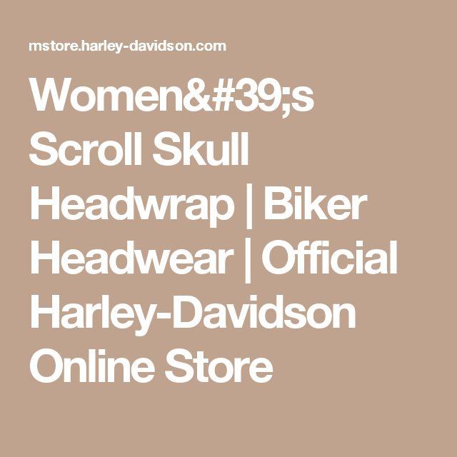 Women's Scroll Skull Headwrap | Biker Headwear | Official Harley-Davidson Online Store