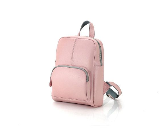 Pastel Pink leather backpack for her   Womens backpack rose   Backpack  laptop 13    Pink backpack   Ladies backpack pink   Compact rucksack in  2018 ... 3eeafd01fe