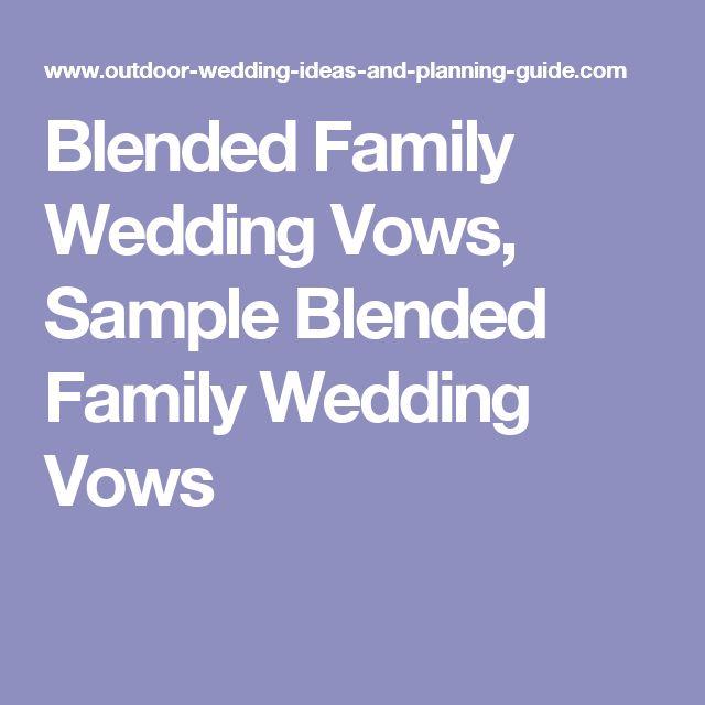 Blended Family Wedding Vows Sample Blended Family Wedding