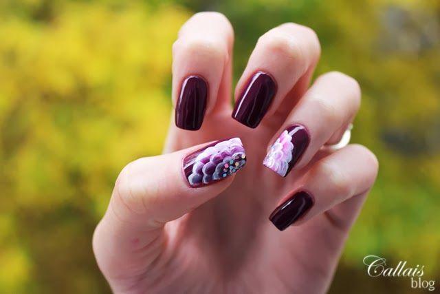 www.callais-nails.blogspot.com & www.smartlifestyle.pl  One stroke, nails