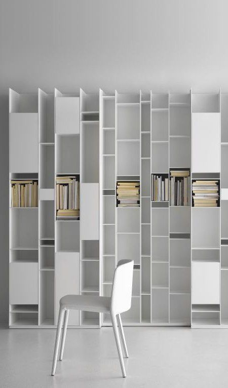 MDF #bookcase RANDOM by MDF Italia | #design Neuland Industriaedesign #books #white #minimal