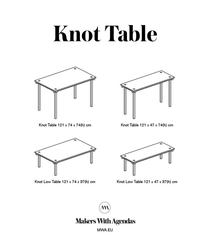 Knot Table. 2 depths, 2 heights. #mwa #makerswithagendas #mwadesign #agendadrivendesign #mwagram #nomadicliving #minimallogistics