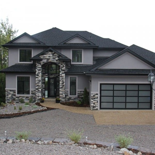 Best 25 stucco and stone exterior ideas on pinterest for Stucco homes with stone