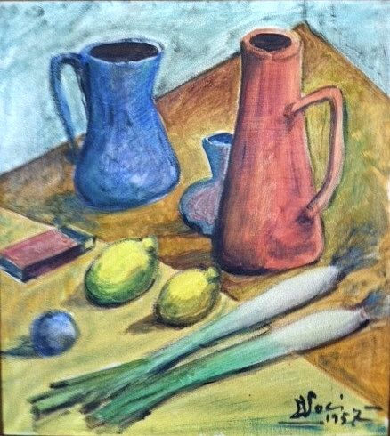 """#DiegoVoci™ with Tony Voci in their #travels through #Europe in 1957 said, """"You hungry? I draw you something to eat"""". One of his early works 1957! See more on DIEGO and preview: http://www.blurb.com/books/5419805-the-beauty-of-diego"""