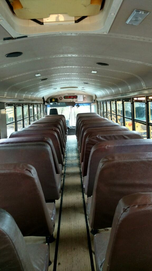 Photo 2 Of 13 In A Couple Convert An Old School Bus Into A Light And Old School Bus School Bus Conversion School Bus