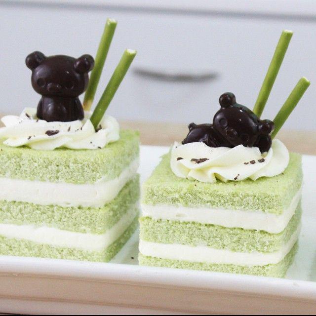 Rilakkuma Matcha Cakes from Kawaiisweetworld 's YouTube channel!