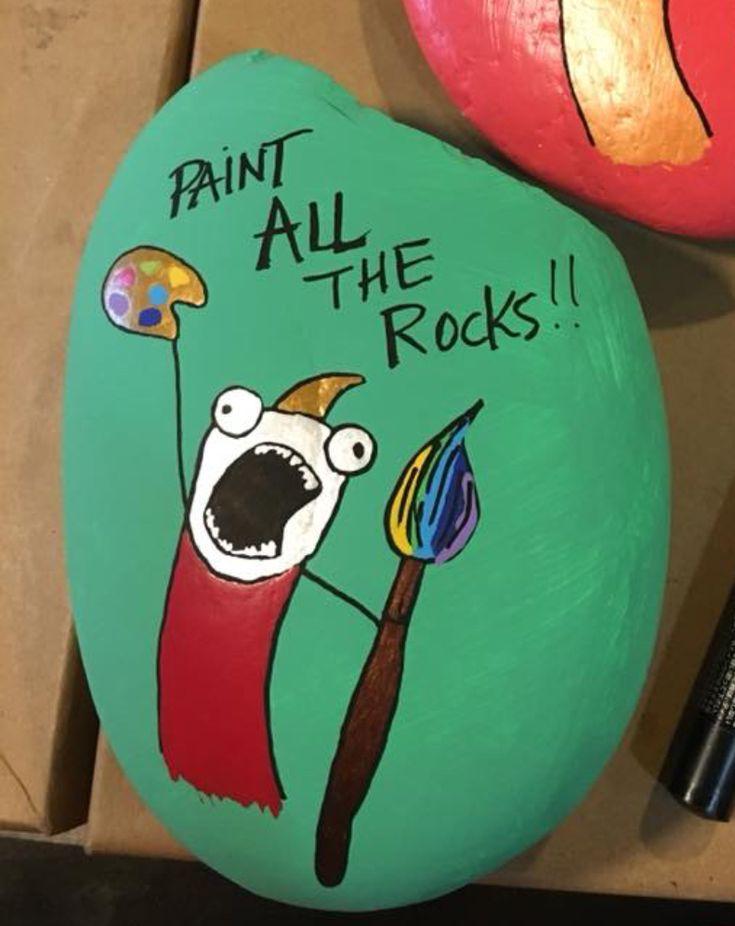Paint all the rocks!! Lol