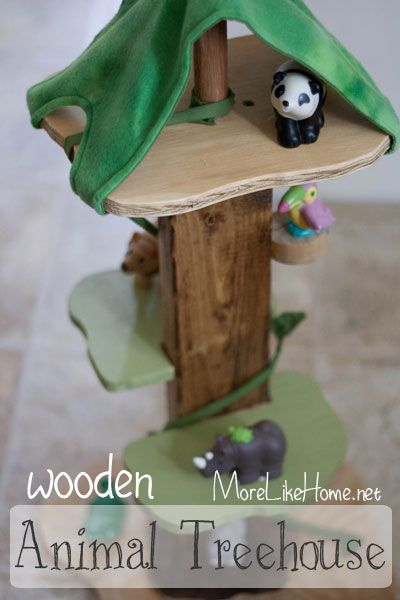 DIY Wooden Animal Treehouse free plans and tutorial | DIY ...