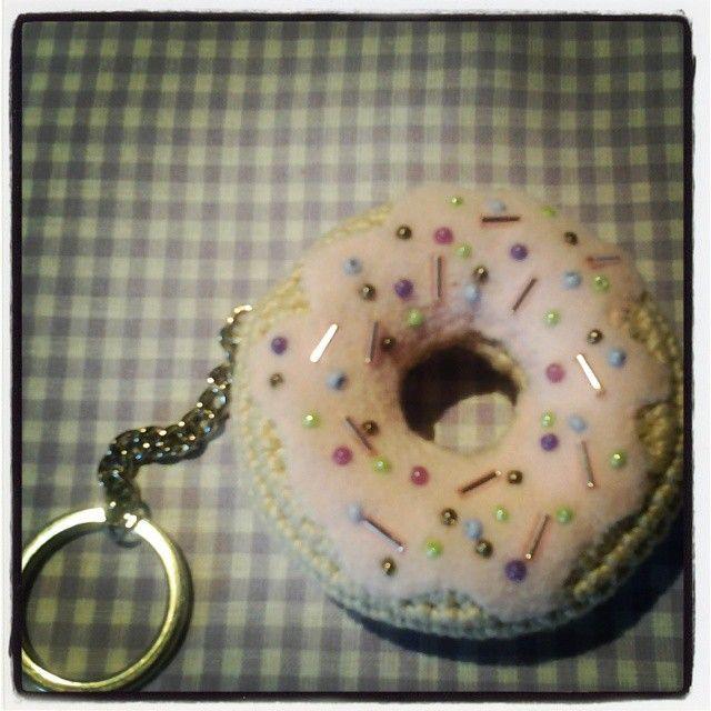 Keychains,donut,light pink