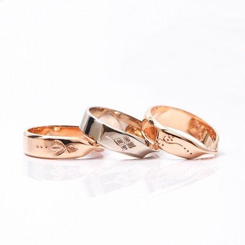 結婚指輪|インフィニティーシリーズ。 ひねりがポイントのデザインです。