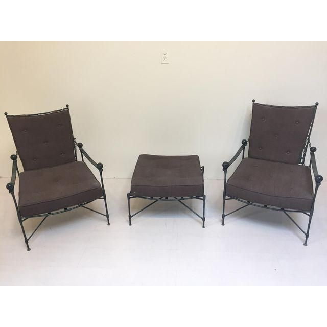 Image Of Salterini Patio Chairs With Ottoman   Pair