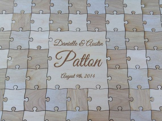 100-150 pcs. Custom Wedding Guest Book Puzzle -Guest Book Alternative - Mixed grain pieces