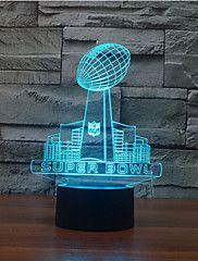 Super Bowl érintés fényerő 3d led éjszakai fény 7colorful dekoráció hangulat lámpa újdonság világítás karácsonyi fény