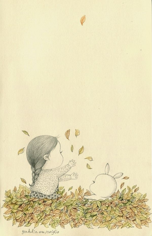 우리들의 가을 놀이. 알록달록 낙엽 속에서..  Our playing in fall. With colorful fallen leaves..