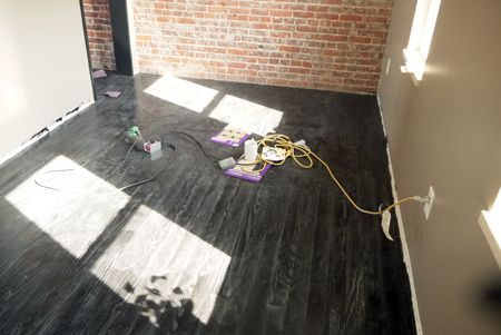 Quot Our Floors Are Done Quot How To Paint Old Soft Pine Floors